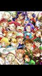 alolan_vulpix citron_(pokemon) dent_(pokemon) eureka_(pokemon) haruka_(pokemon) highres hikari_(pokemon) iris_(pokemon) kasumi_(pokemon) kenji_(pokemon) kojirou_(pokemon) kukui_(pokemon) lillie_(pokemon) meowth musashi_(pokemon) ookido_shigeru pikachu satoshi_(pokemon) serena_(pokemon) takeshi_(pokemon) umbreon wobbuffet
