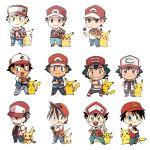 6+boys male_focus multiple_boys multiple_persona pikachu pokemon pokemon_(anime) pokemon_special red_(pokemon) red_(pokemon)_(classic) red_(pokemon)_(remake) red_(pokemon)_(sm) satoshi_(pokemon) satoshi_(pokemon)_(classic) ssalbulre