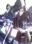 4boys 80s artist_request astrotrain blitzwing cannon decepticon mechanical_wings multiple_boys no_humans oldschool open_mouth personification red_eyes smile soundwave standing starscream transformers weapon wings