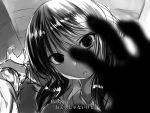 1girl check_translation empty_eyes greyscale hand_grab lolicept monochrome tamura_yuri translation_request watashi_ga_motenai_no_wa_dou_kangaetemo_omaera_ga_warui! yandere you_gonna_get_raped