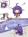 ... 1girl :d ahoge apron bangs black_legwear blue_skirt blush comic commentary_request eyebrows_visible_through_hair flower frilled_apron frills gift gloves hair_flower hair_ornament heart-shaped_box holding holding_gift kantai_collection komakoma_(magicaltale) long_hair long_sleeves low_twintails lying musical_note ocean on_stomach open_mouth out_of_frame pantyhose pebble petting pleated_skirt purple_hair quaver shirt skirt smile spoken_ellipsis taigei_(kantai_collection) translation_request tripping twintails valentine very_long_hair waist_apron walking water white_apron white_gloves white_shirt ||_||