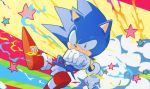 1boy aimf colorful gloves male_focus no_humans shoes sneakers solo sonic sonic_the_hedgehog star