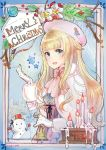 1girl :d akiya_yukie artist_name blonde_hair candle capelet center_frills christmas dated english gloves green_eyes hat merry_christmas open_mouth princess_(princess_principal) princess_principal signature smile snowman solo white_gloves