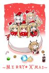 >_< 6+girls :d :t =_= admiral_hipper_(azur_lane) amazon_(azur_lane) animal_ears antlers arm_up azur_lane bangs black_gloves blonde_hair blue_eyes blunt_bangs box braid camera candy candy_cane cat_ears chibi christmas closed_eyes closed_mouth coin commentary_request crescent crescent_(azur_lane) crescent_hair_ornament crown dress eyebrows_visible_through_hair fang flying_sweatdrops food fur-trimmed_dress fur-trimmed_hat gift gift_box glass_bottle gloves green_eyes gridley_(azur_lane) hair_ornament hair_ribbon hammann_(azur_lane) hat highres holding holding_camera holding_candy_cane in_box in_container long_hair looking_at_viewer merry_christmas mini_crown multiple_girls open_mouth p_ion pink_ribbon pout puffy_short_sleeves puffy_sleeves queen_elizabeth_(azur_lane) red_dress red_eyes red_hat reindeer_antlers reindeer_ears ribbon ringlets santa_costume santa_hat short_sleeves silver_hair sitting smile snowflakes star star_hair_ornament twintails v-shaped_eyebrows very_long_hair xd