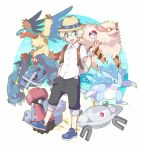 :d alolan_sandslash arcanine archeops artist_request dadadanoda magnezone metagross open_mouth poke_ball pokemon pokemon_(creature) pokemon_(game) pokemon_sm probopass sandslash smile team you_(pokemon_sm)