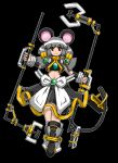 1girl animal_ears bag dowsing_rod graphite_(medium) grey_hair highres mechanical_pencil mouse_ears mouse_tail nazrin pencil red_eyes solo tail touhou traditional_media uwa_(rakko)