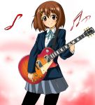 1girl guitar highres hirasawa_yui instrument k-on! kayama_kenji les_paul pantyhose school_uniform solo