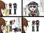/\/\/\ 0_0 3girls anchor_symbol bangs black_legwear black_skirt brown_eyes brown_hair comic commentary_request drooling eyebrows_visible_through_hair falling grey_footwear hair_between_eyes hibiki_(kantai_collection) ikazuchi_(kantai_collection) inazuma_(kantai_collection) kantai_collection long_sleeves lying multiple_girls neckerchief on_back on_ground open_mouth pleated_skirt raythalosm red_neckwear saliva school_uniform serafuku shirt shoes skirt standing sweat tears thigh-highs translation_request wavy_mouth white_shirt