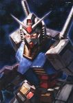 absurdres artbook english glowing gundam highres mecha mobile_suit_gundam morishita_naochika rx-78-2 scan space