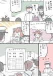 1boy 6+girls ahoge akagi_(kantai_collection) black_hair brown_hair closed_eyes comic commentary_request detached_sleeves double_bun drawing epaulettes faceless faceless_male hair_bun hairband hat headgear hiei_(kantai_collection) holding holding_pencil japanese_clothes kaga_(kantai_collection) kantai_collection kirishima_(kantai_collection) long_hair military military_hat military_uniform mo_(kireinamo) multiple_girls naka_(kantai_collection) nontraditional_miko nose_bubble ooyodo_(kantai_collection) open_mouth peaked_cap pencil short_hair side_ponytail sidelocks sweatdrop tenryuu_(kantai_collection) translation_request uniform wide_sleeves yukikaze_(kantai_collection)