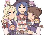 6+girls artist_request cake diana_cavendish food kagari_atsuko little_witch_academia lotte_jansson multiple_girls shiny_chariot sucy_manbavaran ursula_charistes