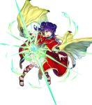 1girl amagai_tarou dragon_wings dress fire_emblem fire_emblem:_seima_no_kouseki fire_emblem_heroes full_body highres myrrh official_art solo transparent_background wings