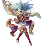 1girl eirika fire_emblem fire_emblem:_seima_no_kouseki fire_emblem_heroes full_body highres long_hair mayachise official_art skirt solo transparent_background white_skirt