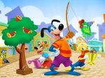 1girl 3boys animal bear bird candy cat clown disney dog duck fish fishing_rod flippy_doggenbottom megaphone shirt shorts toontown toontown_online tree trophy watering_can