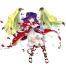 1girl amagai_tarou dragon_wings dress fire_emblem fire_emblem:_seima_no_kouseki fire_emblem_heroes full_body highres myrrh official_art solo transparent_background wings