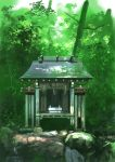 commentary_request day derivative_work forest hirota_(masasiv3) nature no_humans original outdoors rock scenery shrine tree