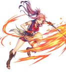 1girl fire_emblem fire_emblem:_seima_no_kouseki fire_emblem_heroes full_body highres long_hair official_art purple_hair solo transparent_background violet_eyes