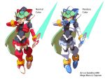 1girl absurdres bodysuit breasts capcom gloves highres long_hair model_zx pandora_(rockman) rockman rockman_zx shoutaro_saito smile solo