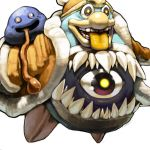 creepy cyclop dark_matter eyes gooey hal_laboratory_inc. hoshi_no_kirby hoshi_no_kirby_3 king_dedede kirby's_dream_land_3 kirby_(series) koki_(pixiv) monster nintendo no_humans penguin teeth tongue transformation
