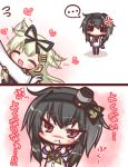 ... 2girls 2koma :t ^_^ admiral_(kantai_collection) anchor anchor_symbol anger_vein black_hair black_hairband black_legwear black_ribbon black_skirt blonde_hair blush blush_stickers chibi closed_eyes closed_mouth comic commentary_request expressive_hair fang flying_sweatdrops gloves gradient_hair grey_hair hair_flaps hair_ribbon hairband hat heart kantai_collection komakoma_(magicaltale) long_sleeves mini_hat multicolored_hair multiple_girls neckerchief out_of_frame pantyhose pleated_skirt pout ribbon sailor_collar sailor_shirt shirt short_hair_with_long_locks skirt smokestack spoken_ellipsis standing tearing_up tied_shirt tokitsukaze_(kantai_collection) translation_request violet_eyes wavy_mouth white_gloves white_shirt yellow_neckwear yuudachi_(kantai_collection)