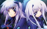 1920x1200 blue_eyes cryska_barchenowa inia_sestina muvluv muvluv_alternative_total_eclipse pilot pilot_suit purple_hair wallpaper