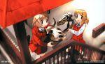 highres miyako nagatsuki_misoka school_uniform skull stairs yuno