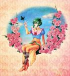 1girl asellus_(saga_frontier) breasts commentary_request dress green_eyes saga saga_frontier short_hair solo