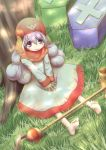 1girl animal_ears barefoot commentary_request dog_ears dragon_quest dragon_quest_ii long_hair multiple_boys princess tayashitsu