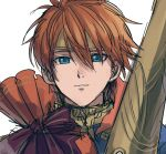 1boy blue_eyes cape eliwood_(fire_emblem) fire_emblem fire_emblem:_rekka_no_ken fire_emblem_heroes kometubu0712 looking_at_viewer male_focus redhead short_hair smile solo