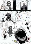 ... ...? 1boy 2girls :d absurdly_long_hair ahoge armor armored_boots bangs bell beret black_bow black_cloak black_dress black_eyes black_footwear black_gloves black_hat black_legwear boots bow braid capelet comic dress eiri_(eirri) elbow_gloves eyebrows_visible_through_hair fate/extra fate/grand_order fate_(series) fur-trimmed_capelet gloves glowing glowing_eyes gothic_lolita grey_bow grey_footwear grey_hair hair_between_eyes hair_bow hand_to_own_mouth hat hat_bow headpiece horns indoors jeanne_d'arc_(fate)_(all) jeanne_d'arc_alter_santa_lily king_hassan_(fate/grand_order) lego lego_brick light_brown_hair lolita_fashion long_hair low_ponytail low_twintails multiple_girls nursery_rhyme_(fate/extra) one_knee open_mouth pantyhose pleated_dress puffy_short_sleeves puffy_sleeves ribbon shoes short_sleeves skull smile spikes spoken_ellipsis stabbing striped striped_bow striped_ribbon thigh-highs translation_request twin_braids twintails v-shaped_eyebrows very_long_hair white_capelet white_dress