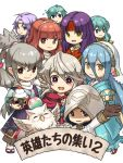 aqua_(fire_emblem_if) aqua_hair bird blue_eyes blue_hair blush cape celica_(fire_emblem) chibi earrings eirika ephraim feh_(fire_emblem_heroes) fire_emblem fire_emblem:_seima_no_kouseki fire_emblem:_souen_no_kiseki fire_emblem_echoes:_mou_hitori_no_eiyuuou fire_emblem_heroes fire_emblem_if gloves green_hair headband hood japanese_clothes jewelry kimono long_hair looking_at_viewer lyon_(fire_emblem) male_my_unit_(fire_emblem_if) mamkute multiple_girls my_unit_(fire_emblem_if) owl ponytail purple_cape purple_hair red_eyes redhead robe sanaki_kirsch_altina short_hair simple_background skirt smile summoner_(fire_emblem_heroes) takumi_(fire_emblem_if) tiara veil yellow_eyes