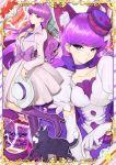 dress kotozume_yukari long_hair purple_eyes violet_hair
