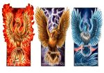 2016 articuno beak bird circle flaming_hair holding moltres night night_sky no_humans octagon pokemon pokemon_(creature) pokemon_(game) pokemon_rgby realistic shadeofshinon signature sky thunder traditional_media triangle watermark web_address white_background wings zapdos