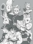 6+boys :o ;) annoyed armor beerus black_eyes black_hair character_request crossed_arms dougi dragon_ball dragon_ball_super dragonball_z earrings egyptian_clothes expressionless eyebrows_visible_through_hair eyelashes frown gloves grey_background greyscale hand_on_hip jewelry kaioushin looking_at_another mohawk monochrome multiple_boys one_eye_closed open_mouth simple_background smile son_gokuu spiky_hair staff super_saiyan sweatdrop sword vegeta weapon whis white_hair wristband zamasu