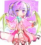1girl dragon_wings fire_emblem fire_emblem:_seima_no_kouseki gem holding looking_at_viewer myrrh purple_hair sandals smile solo twintails violet_eyes wings