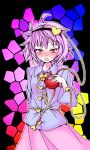 blush gyo hairband heart komeiji_satori purple_hair red_eyes touhou