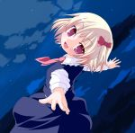 foreshortening hands highres hujikok machily miko_machi red_eyes ribbon rumia touhou