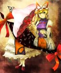 eyes gap hat long_hair ribbon tottema touhou umbrella yakumo_yukari yellow_eyes