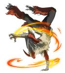 blaziken endivinity fire mega_blaziken pokemon pokemon_(game) pokemon_xy solo transparent_background upside-down