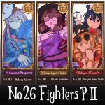 4girls ;) antinomy_of_common_flowers bangle blonde_hair blue_bow blue_hair bow bowtie bracelet brown_hair buttons cape card_(medium) closed_mouth commentary drill_hair earrings english fan glasses grey_jacket hair_bow hair_ribbon hat hat_bow hata_no_kokoro holding holding_fan hopeless_masquerade jacket jewelry long_sleeves low_twintails mask mefomefo multiple_girls one_eye_closed open_mouth pink_hair plaid plaid_shirt plaid_vest purple_vest quimbaya_airplane red_ribbon ribbon semi-rimless_eyewear shirt siblings sisters smile top_hat touhou twintails upper_body urban_legend_in_limbo usami_sumireko v vest white_bow white_shirt yorigami_jo'on yorigami_shion