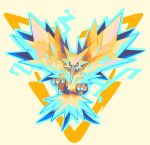 bird claws full_body looking_at_viewer pokemon pokemon_(creature) pokemon_(game) pokemon_rgby simple_background solo white_background yiq zapdos