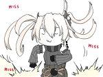1girl :3 abyssal_crane_hime black_clothes dancing gameplay_mechanics kantai_collection long_hair ribbon rukialice shinkaisei-kan twintails white_hair zui_zui_dance