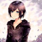 1girl black_coat_(kingdom_hearts) black_hair blue_eyes cloak gloves karudoll kingdom_hearts kingdom_hearts_358/2_days organization_xiii short_hair solo xion_(kingdom_hearts)