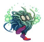 commentary creature deviantart_username jumping looking_up no_humans pokemon pokemon_(creature) pokemon_(game) pokemon_rgby red_footwear shoes signature solo tangela transparent_background twarda8