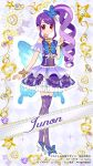 dress junon long_hair red_eyes violet_hair