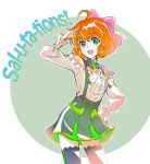 1girl a.i._channel commentary english freckles green_eyes iesupa orange_hair penny_polendina rwby solo