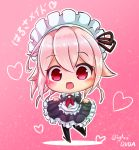 chibi harusame_(kantai_collection) long_hair pink_hair red_eyes