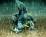 buttai nintendo no_humans pokemon rain solo swampert