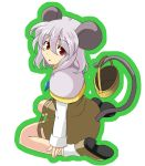 basket grey_hair mouse_ears mouse_tail nazrin ooike_teru red_eyes short_hair tail touhou