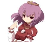 machily miko_machi purple_hair red_eyes short_hair touhou yasaka_kanako